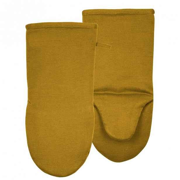 Sada 2 žlutých chňapek z bavlny Södahl Elias
