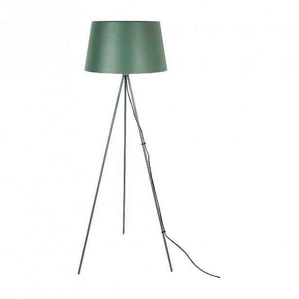 Tmavě zelená stojací lampa Leitmotiv Classy