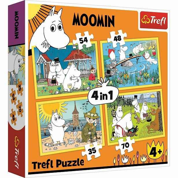 Trefl Puzzle Mumínci 4v1 35, 48, 54, 70 dílků
