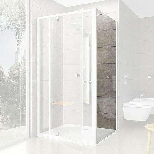 Boční zástěna ke sprchovým dveřím 90x190 cm Ravak Pivot bílá 90G70100Z1