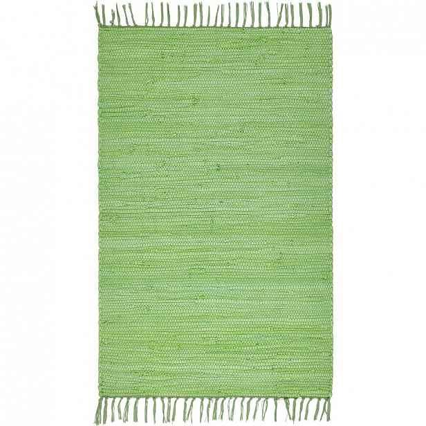 Ručně tkaný hadrový Koberec Julia 1, 60/90cm, Sv.zelená
