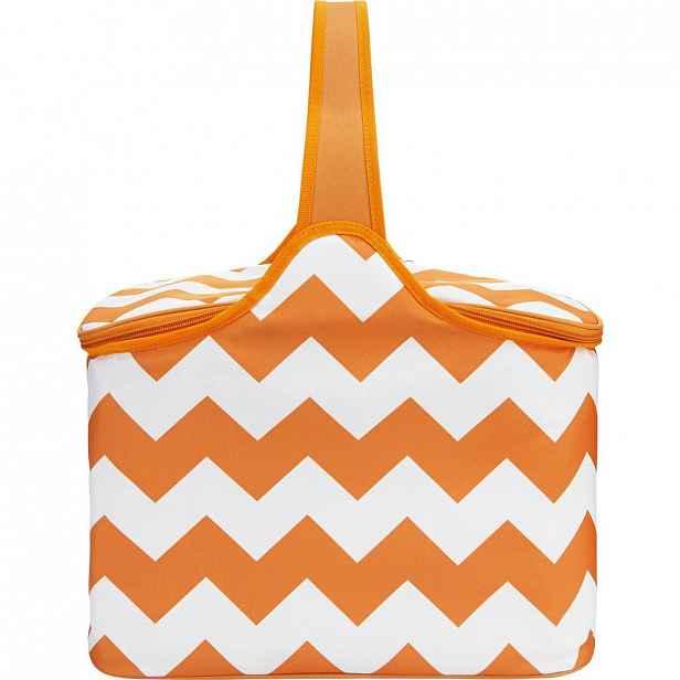 Oranžovo - bílá chladící taška