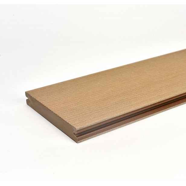 Prkno terasové dřevoplastové Twinson Massive odstín vlašský ořech 140x20×6000 mm