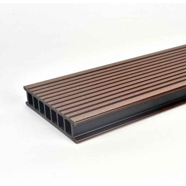 Prkno terasové dřevoplastové Twinson Terrace odstín lískový ořech 140x28×6000 mm