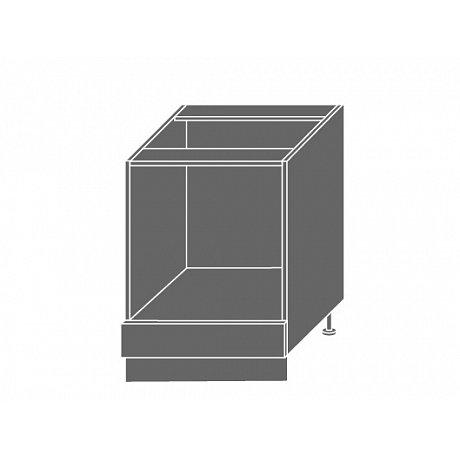 PLATINUM, skříňka dolní D11k 60, korpus: grey, barva: rose red