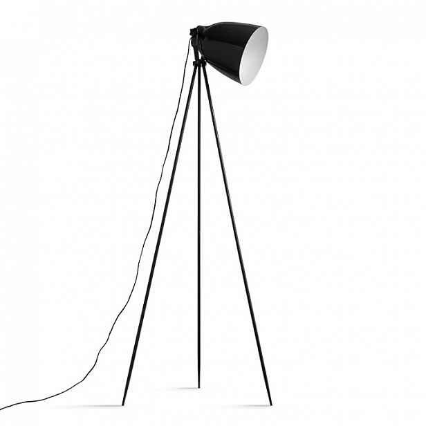 Stojací lampa, černý kov, CINDA TYP  5 0000190700 Tempo Kondela