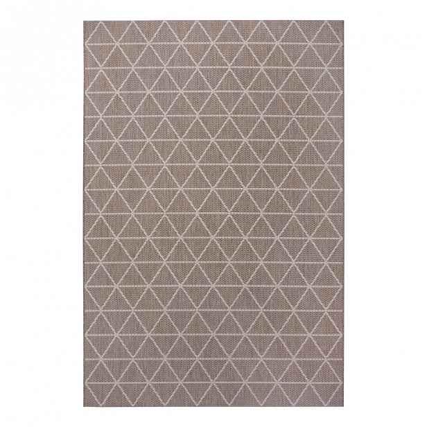 Hnědý venkovní koberec Ragami Athens, 80 x 150 cm