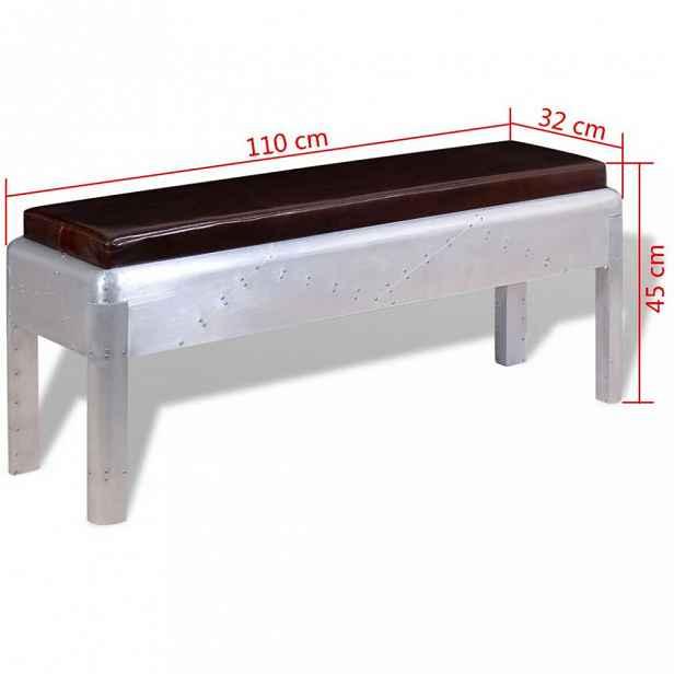 Lavice hnědá / stříbrná 110 cm
