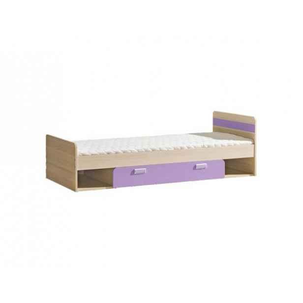 Postel komplet, jasan/fialová, 80x190, EGO L13