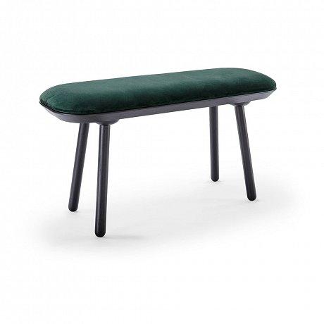 Zeleno-černá sametová lavice EMKO Naïve,100cm