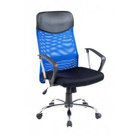 Kancelářské křeslo VIRE, černá/modrá - 61 x 63 x 110-120 cm