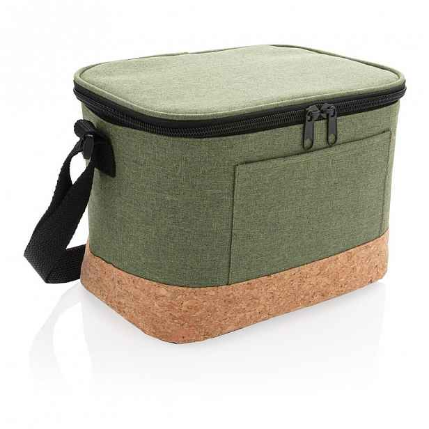 Zelená termotaška s korkovými detaily XD Collection