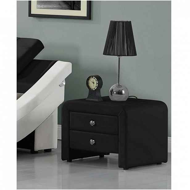 Noční stolek, ekokůže, černá, WILSON 0000191854 Tempo Kondela