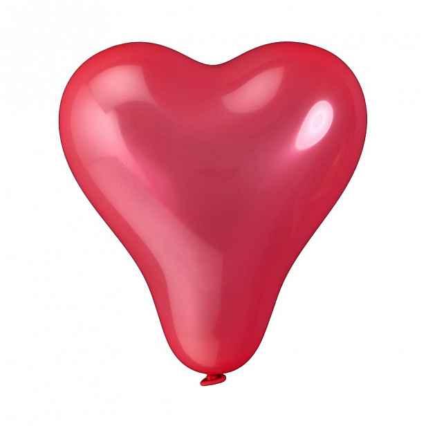 Butlers UPPER CLASS Balónky srdce set 10 ks - červená