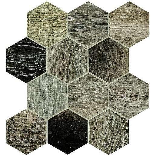 Dlažba Dom Barn Wood grey 35x37,5 cm mat DBWEM40