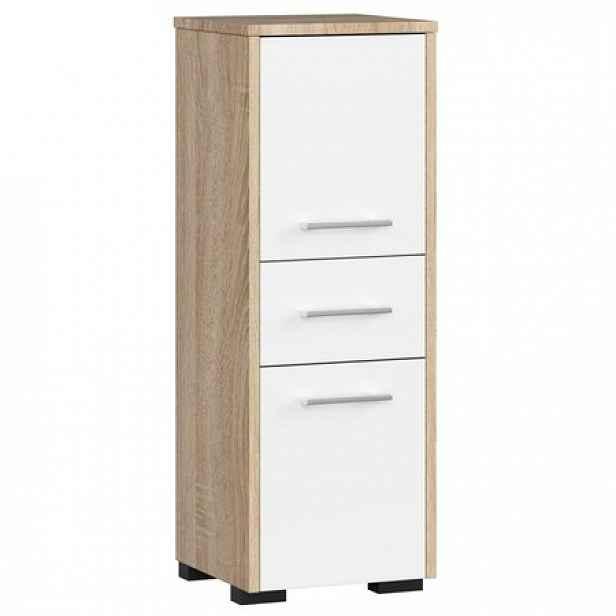 Koupelnová skříňka Fin 2D 1SZ dub sonoma/bílá