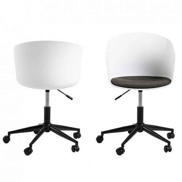 Otočná Konferenční Židle Moon Bílá - 65/87/65 cm