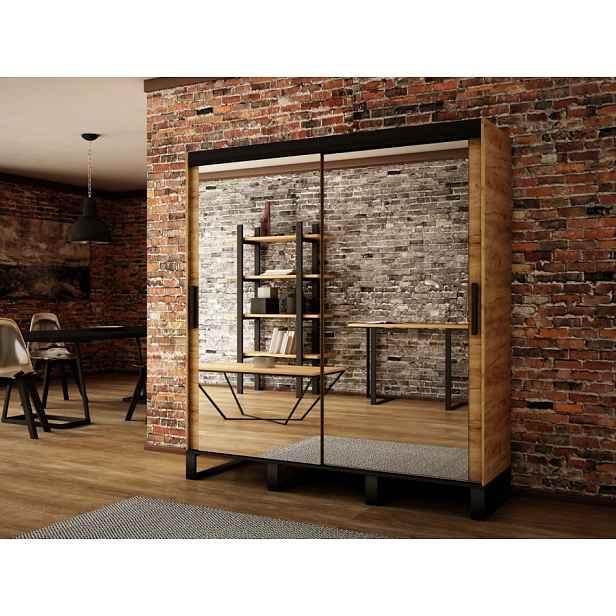 Šatní skřín Leffe 200cm, dub craft zlatý HELCEL