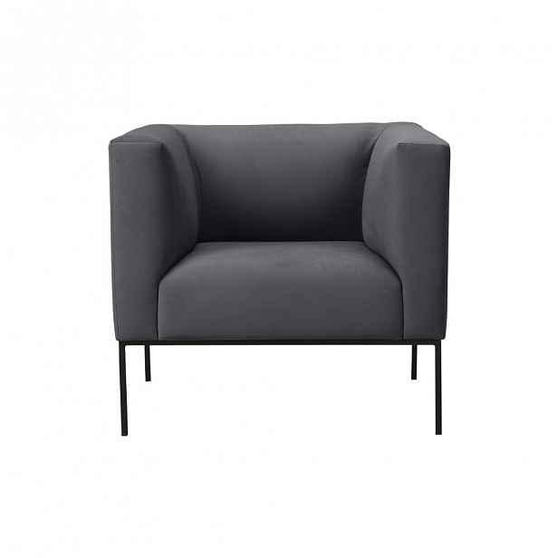 Tmavě šedé křeslo Windsor & Co Sofas Neptune