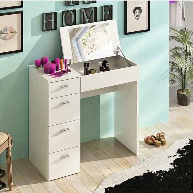 Toaletní stolek, bílá, BELINA 0000205891 Tempo Kondela