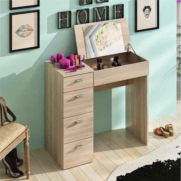 Toaletní stolek, dub sonoma, BELINA 0000205892 Tempo Kondela
