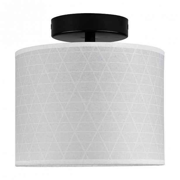 Bílé stropní svítidlo se vzorem trojúhelníků Sotto Luce Taiko