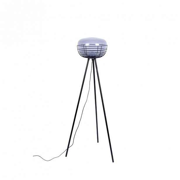 Šedo-černá stojací lampa Zuiver Smokey