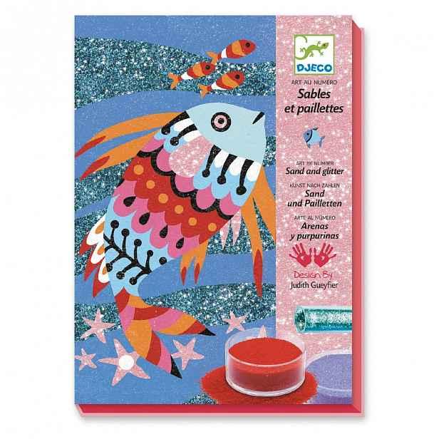Výtvarný set na pískování Djeco Rainbow Fish