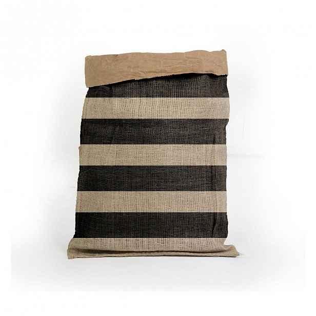 Úložný koš z recyklovaného papíru Surdic Yute Stripes