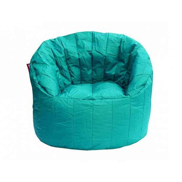 Modro zelený sedací vak BeanBag Lumin Chair