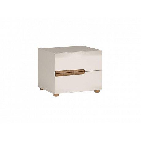 LINATE/96, noční stolek, alpská bílá/trufla