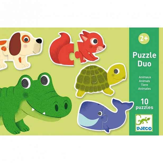 Dětské puzzle Djeco Duo Zvířátka