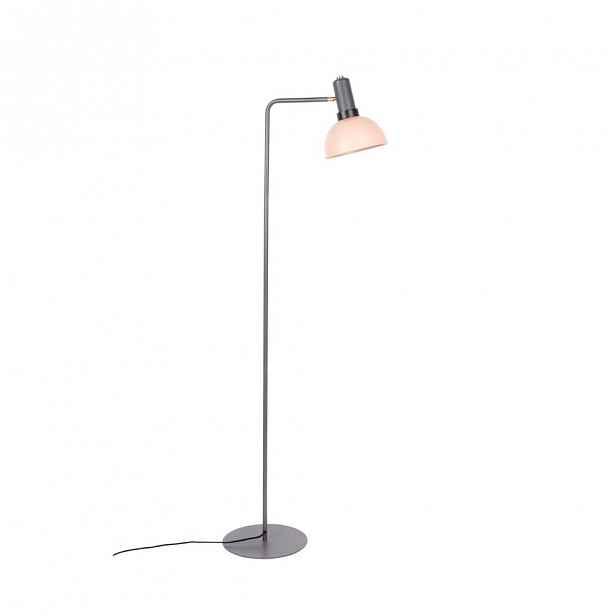 Šedo-růžová stojací lampa Zuiver Charlie