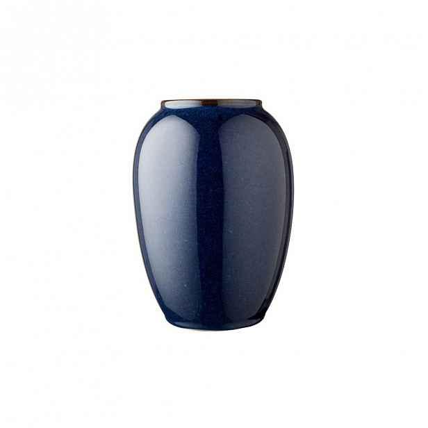 Modrá kameninová váza Bitz Pottery