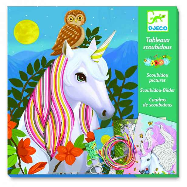 Kreativní set Djeco Rainbow Unicorns