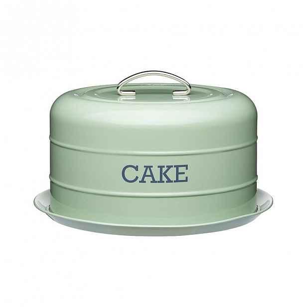 Zelená plechová dóza na dort Kitchen Craft Nostalgia