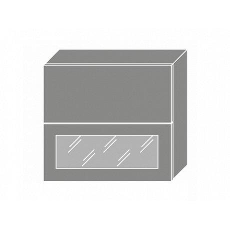 TITANIUM, horní skříňka W8B 80 AV WKF, korpus: bílý, barva: fino bílé