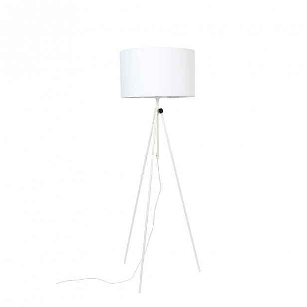 Bílá stojací lampa Zuiver Lesley