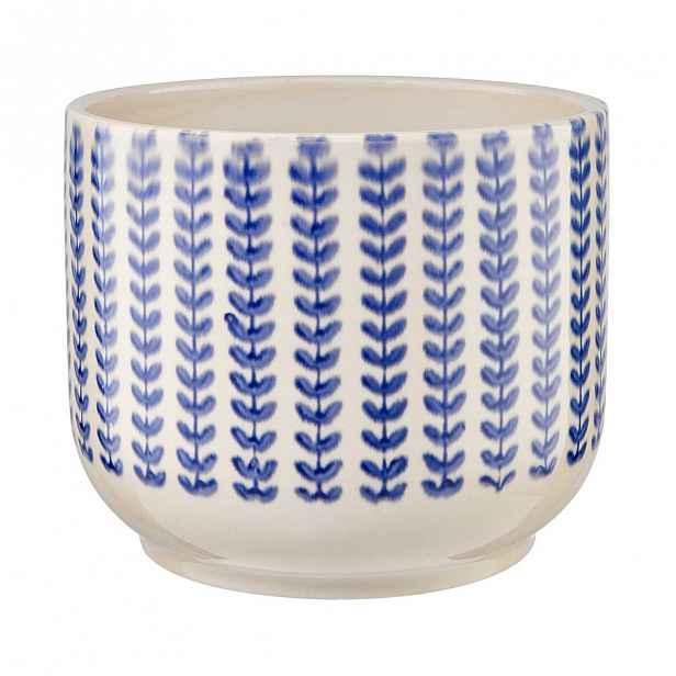 Butlers HORIZON Květináč 16 cm - modrá/bílá