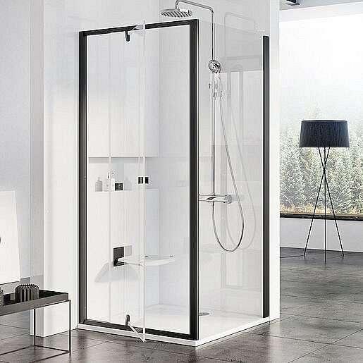 Boční zástěna ke sprchovým dveřím 100x190 cm Ravak Pivot černá 90GA0300Z1